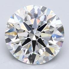 3,01-Carat Round Diamond Ideal E VVS2