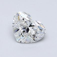 1.00-Carat Heart Diamond Very Good E SI1