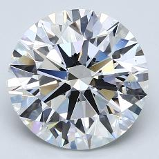 4.00-Carat Round Diamond Ideal E SI1