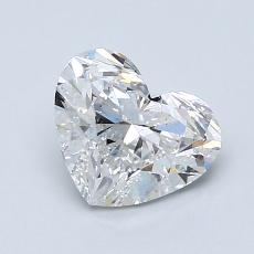 1.31-Carat Heart Diamond Very Good F SI1