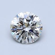 1.02-Carat Round Diamond Ideal I SI1