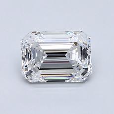 1.01-Carat Emerald Diamond Very Good D IF