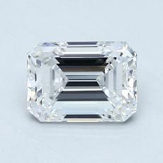 1.00-Carat Emerald Diamond Very Good E VVS1