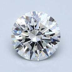 1.61-Carat Round Diamond Ideal H VVS1