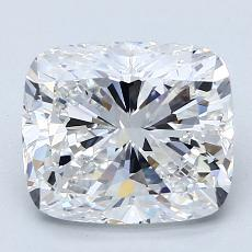 3.01-Carat Cushion Diamond Very Good D VVS2