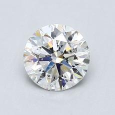 1.00-Carat Round Diamond Ideal I SI2