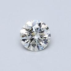 目标宝石:0.38克拉圆形切割钻石
