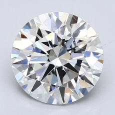 2.50-Carat Round Diamond Ideal F VVS1