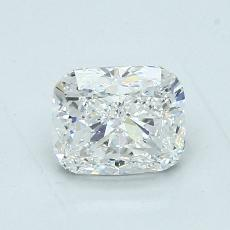 1,01-Carat Cushion Diamond Very Good F VVS1