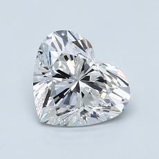 ターゲットの石:1.00カラットのハートカットダイヤモンド