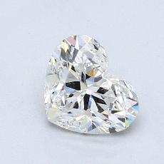 Recommended Stone #2: 1.01-Carat Heart Cut Diamond