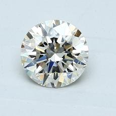 1.00-Carat Round Diamond Ideal K VVS2