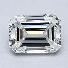 2.07-Carat Emerald Diamond Very Good E VS1