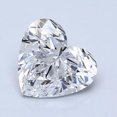 1.51-Carat Heart Diamond Very Good D IF