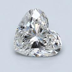 Piedra recomendada 3: Diamante con forma de corazón de 1.29 quilates