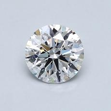 0.70-Carat Round Diamond Ideal D SI1
