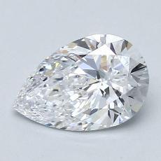 所選擇的鑽石: 1.10 克拉梨形鑽石