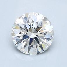 1.24-Carat Round Diamond Ideal G SI1