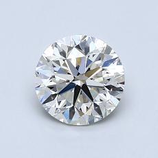 ターゲットの石:0.91カラットのラウンドカットダイヤモンド