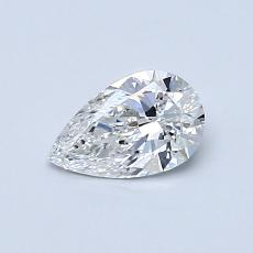 0.50-Carat Pear Diamond Very Good E VVS2