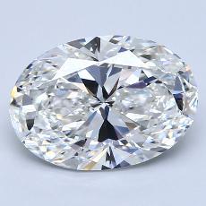 推薦鑽石 #4: 3.09 克拉橢圓形切割鑽石