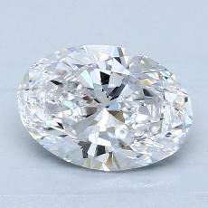 1.29-Carat Oval Diamond Very Good D SI1