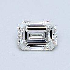 Pierre recommandée n°1: Diamant taille émeraude 0,74 carat