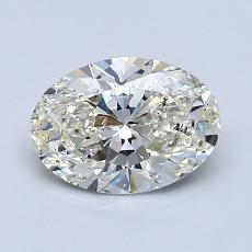 1.03 Carat 椭圆形 Diamond 非常好 J SI2