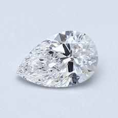 目标宝石:0.73 克拉梨形切割钻石