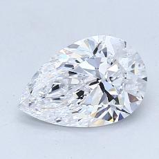 1.10 Carat 梨形 Diamond 非常好 D VVS2