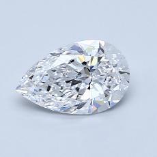 0.81-Carat Pear Diamond Very Good D IF