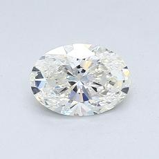 0.55 Carat 椭圆形 Diamond 非常好 I VS2