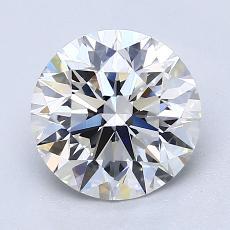 2.01-Carat Round Diamond Ideal F IF