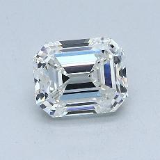 推荐宝石 1:1.04 克拉祖母绿切割钻石