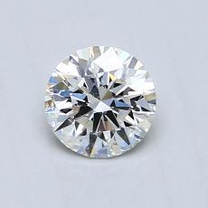 0.53 Carat 圆形 Diamond 理想 J SI2