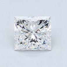 推荐宝石 3:1.21 克拉公主方形钻石