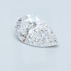 1.29-Carat Pear Diamond Very Good D IF