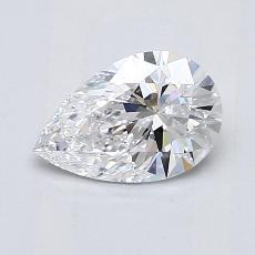 0.90-Carat Pear Diamond Very Good D IF