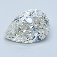 Recommended Stone #3: 3.00-Carat Pear Cut Diamond