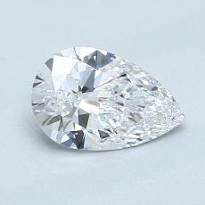 0.72-Carat Pear Diamond Very Good D IF