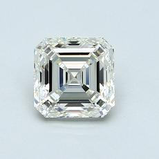 1,03-Carat Asscher Diamond Very Good K VVS1