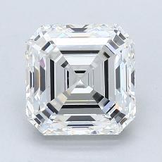 Pierre recommandée n°1: Diamant taille Asscher 2,15 carat