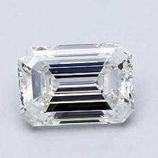 1.51-Carat Emerald Diamond Very Good I VS1