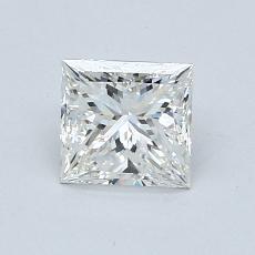0,90 Carat Princesse Diamond Très bonne I VS2