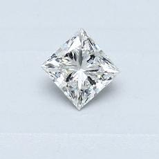 0.30-Carat Princess Diamond Very Good F SI1
