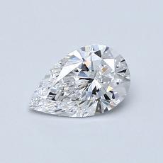 0,52 Carat Poire Diamond Très bonne D IF