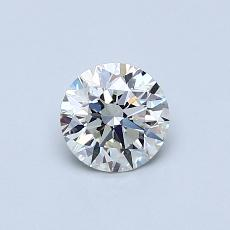 推薦鑽石 #1: 0.55 克拉圓形切割鑽石