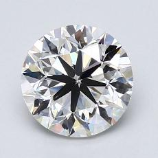 2.00-Carat Round Diamond Very Good G VVS2