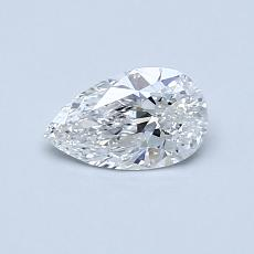 0,40-Carat Pear Diamond Very Good F SI1