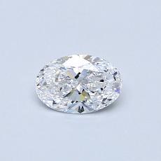 0.36-Carat Oval Diamond Very Good D IF